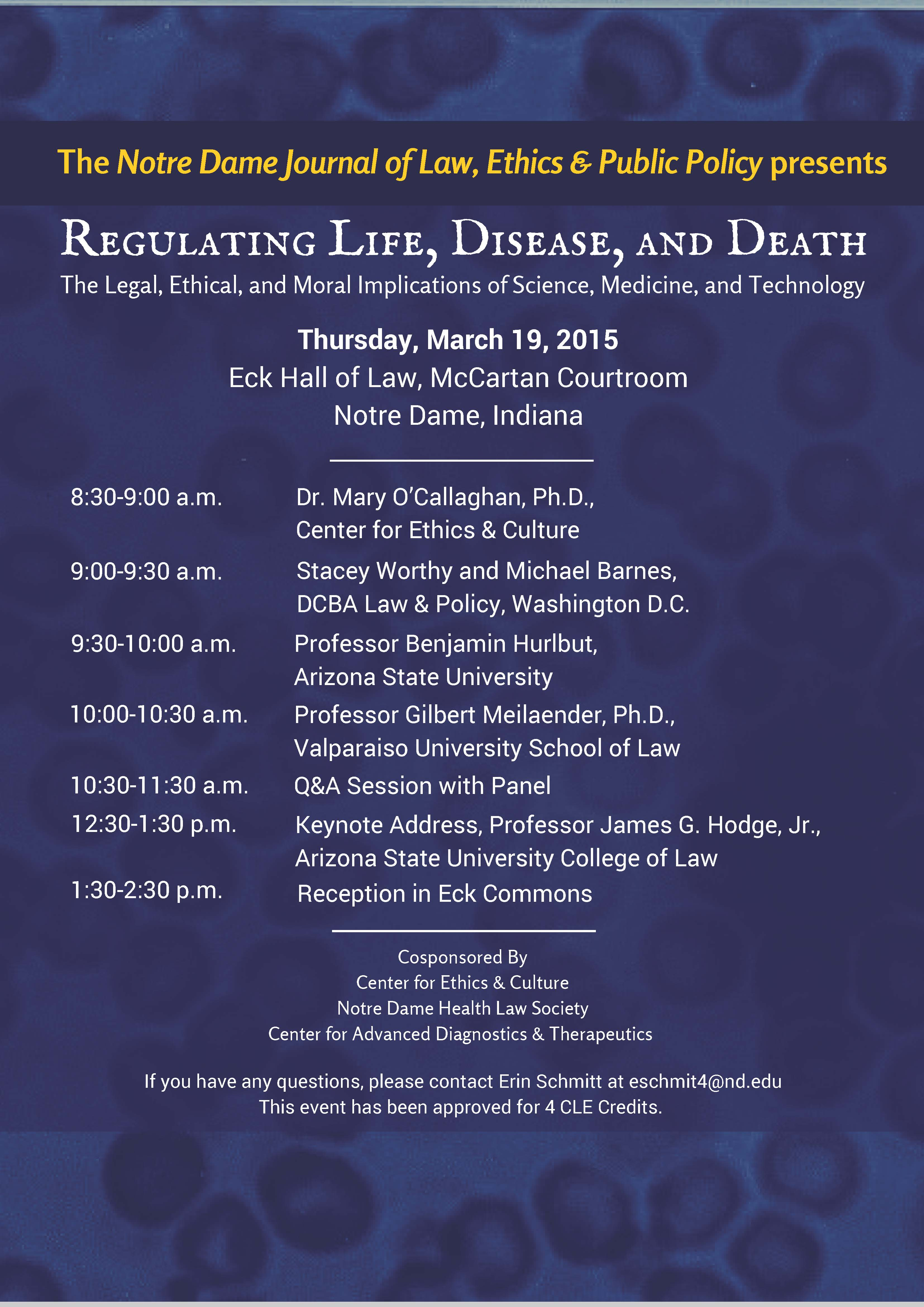 2015 - Regulating Life, Disease, and Death