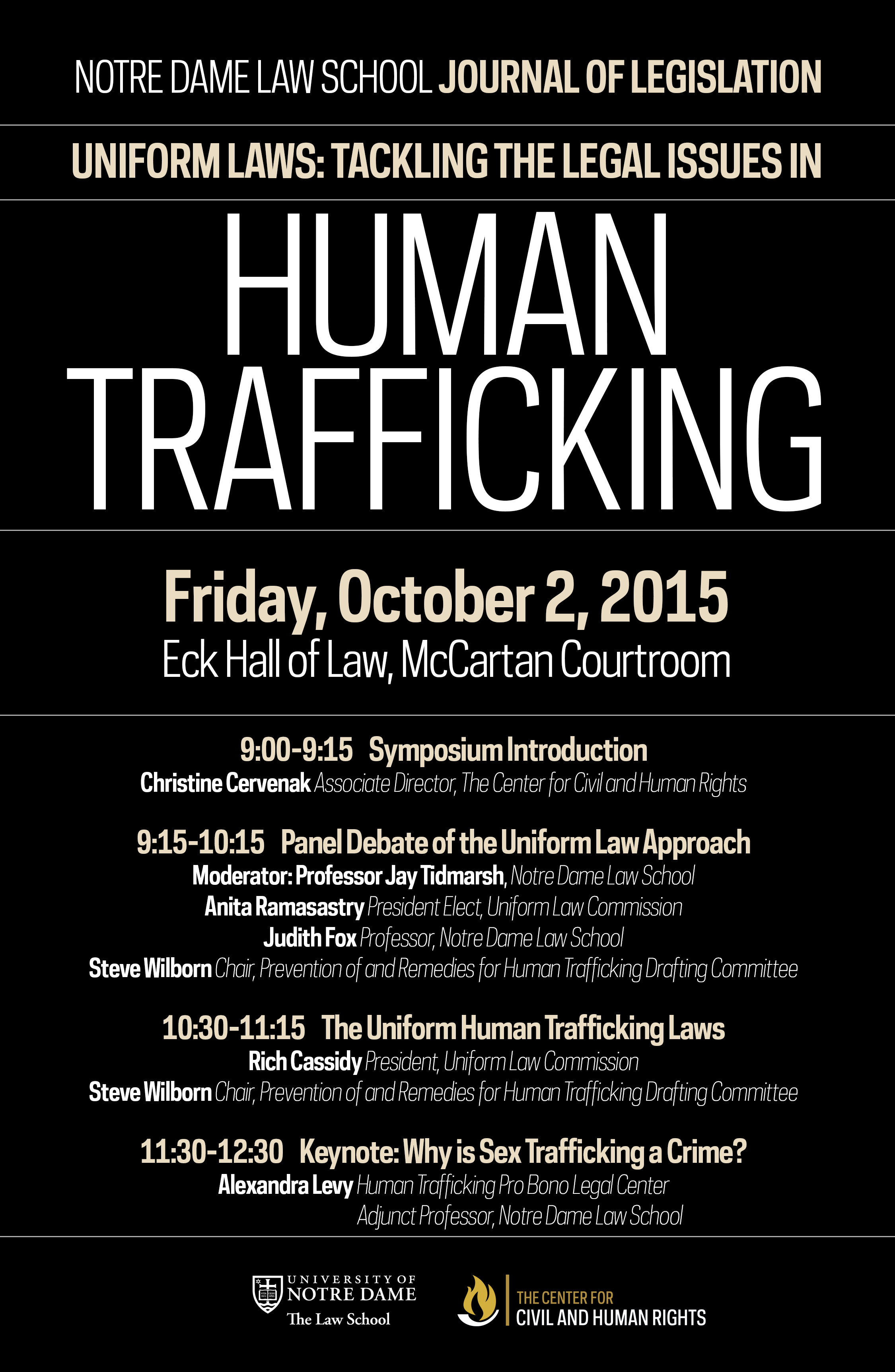2015 - Uniform Laws:Tackling the Legal Issues in Human Trafficking