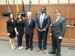 Hon. Diarmuid F. O'Scannlain and students of Federalist Society by Notre Dame Law School