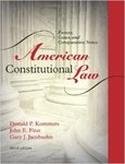 American Constitutional Law: Essays, Cases, and Comparative Notes. 1st Edition,
