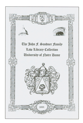 The John F. Sandner Family Law Library Collection