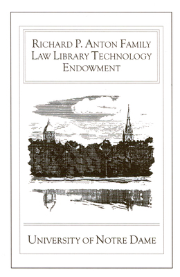 The Richard P. Anton Family Law Library Technology Endowment