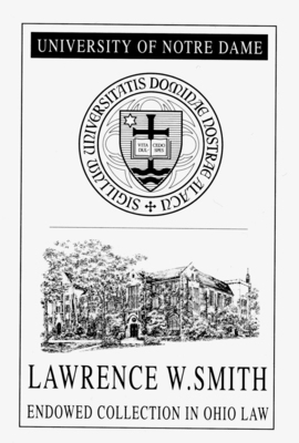 The Lawrence W. Smith  Endowed Collection in Ohio Law
