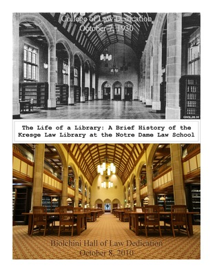 Dedication of Library 1930 and 2010