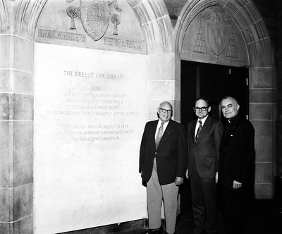 Dedication of the Kresge Law Library, November 2, 1973