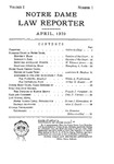 Notre Dame Law Reporter Vol.1 Issue 1