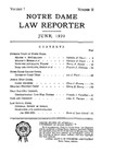 Notre Dame Law Reporter Vol. 1 Issue 2 by Notre Dame Law Reporter Association