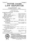 Notre Dame Law Reporter Vol. 2 Issue 2
