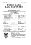 Notre Dame Law Reporter Vol. 3 Issue 1 by Notre Dame Law Reporter Association