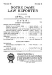 Notre Dame Law Reporter Vol. 3 Issue 2