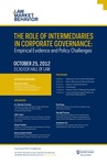 The Role of Intermediaries in Corporate Governance: Empirical Evidence and Policy Challenges