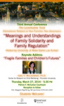 Meanings and Understandings of Family Solidarity and Family Regulation
