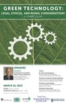 Green Technology: Legal, Ethical, and Moral Considerations