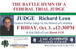 JUDGE Richard Leon: THE BATTLE HYMN OF A FEDERAL TRIAL JUDGE