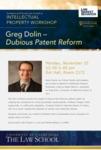 Greg Dolin - Dubious Patent Reform