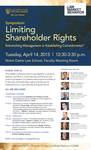 Symposium: Limiting Shareholder Rights Entrenching Management or Establishing Commitments?