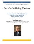 Decriminalizing Threats