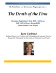 The Death of the Firm