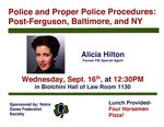 Police and Proper Police Procedures: Post-Ferguson, Baltimore, and NY