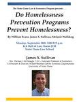 Do Homelessness Prevention Programs Prevent Homelessness?