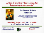 """Article V and the ''Convention for Proposing Amendments"""""""