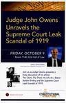 Judge John Owens Unravels the Supreme Court Leak Scandal of 1919