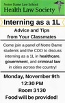 Interning as a 1L: Advice and Tips from your Classmates