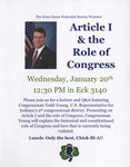 Article I & the Role of Congress