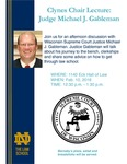 Clynes Chair Lecture: Judge Michael J. Gableman