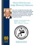 Clynes Chair Lecture: Judge Michael J. Gableman