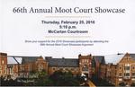 66th Annual Moot Court Showcase
