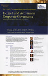 Hedge Fund Activism in Corporate Governance