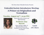 Federalist Society Introductory Meeting: A Primer on Originalism and Textualism
