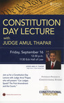 Constitution Day Lecture with Judge Amul Thapar