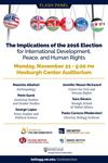 Implications of the 2016 Election for International Development, Peace, and Human Rights