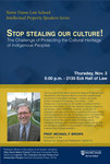 Stop stealing our culture! The Challenge of Protecting the Cultural Heritage of Indigenous Peoples