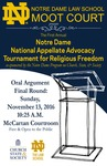 The First Annual Notre Dame National Appellate Advocacy Tournament for Religious Freedom