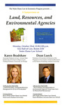 A Symposium on Land, Resources, and Environmental Agencies