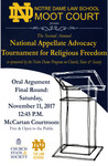 The Second Annual National Appellate Advocacy Tournament for Relgious Freedom