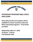Externship Program Q&A Lunch and Learn