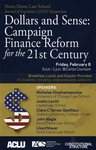 Dollars and Sense: Campaign Finance Reform for the 21st Century by ACLU, American Constitution Society, and Program on Constitutional Structure
