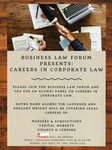 Careers in Corporate Law by Business Law Forum and Notre Dame Law School