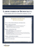 Laboratories of Democracy: Exploring State Constitutional Law by Notre Dame Journal of Law, Ethics & Public Policy and Program on Constitutional Structure
