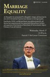 Marriage Equality by LGBT Law Forum, American Constitution Society, TREES, and Black Law Students Association