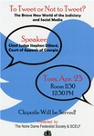To Tweet or Not to Tweet? by Notre Dame Federalist Society and SCELF