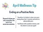 April Wellness Tip by University of Notre Dame Wellness Center