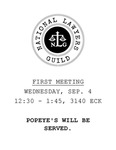 National Lawyers Guild: First Meeting by National Lawyer Guild