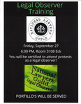 Legal Observer Training by National Lawyers Guild