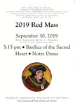 2019 Red Mass by Notre Dame Law School