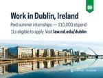 Work in Dublin, Ireland by Notre Dame Law School